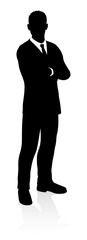 A very high quality business person silhouette © Christos Georghiou