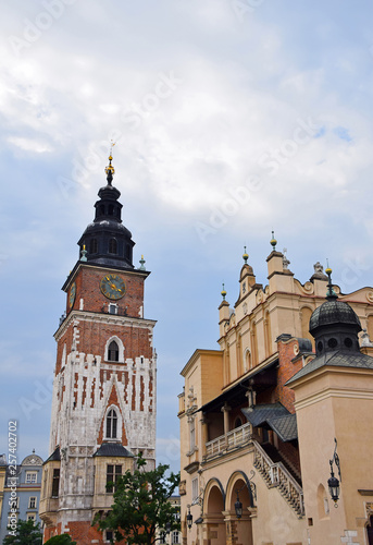 Town Hall tower and Cloth Hall in Krakow, Poland