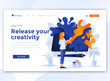 Flat Modern design of website template - Release your creativity