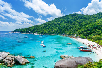 Similan islands, Thailand. Tropical landscape.  Landmark of Thailand.