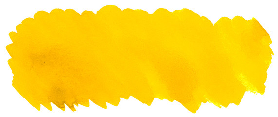 Vibrant Yellow watercolor abstract background, stain, splash paint, stain, divorce. Vintage paintings for design and decoration. With copy space for text. © ss404045