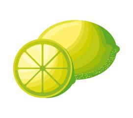fresh lemons fruits isolated icon