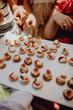 snack tray at wedding reception