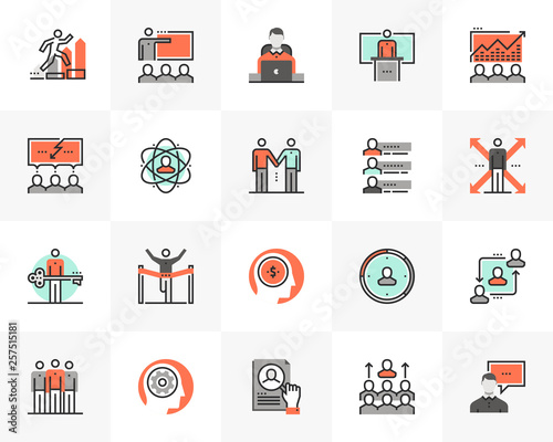 Business Training Futuro Next Icons Pack © bloomicon