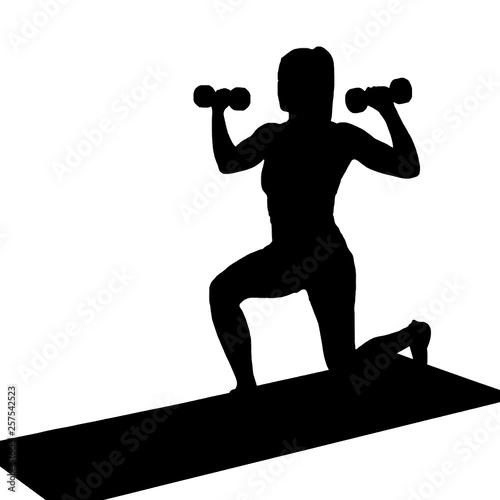 Fototapeten Fitness Fitness Girl