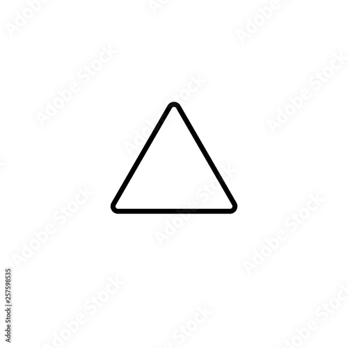 Triangle Outline Icon Vector - 257598535