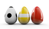 Colorful Easter eggs. 3d render