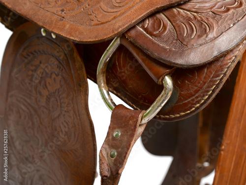 canvas print picture Reitsport Sattel Westernsattel Pferd reiten