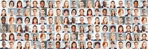 Panorama Portrait Collage von Geschäftsleuten © Robert Kneschke