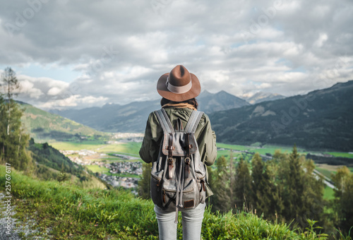 Young traveler in Austria