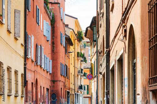 fototapeta na ścianę BOLOGNA, ITALY - May 27, 2018: Street view of Buildings around Bologna, Italy