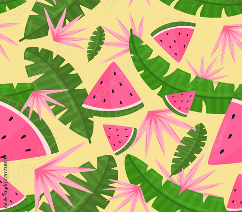 Tropical seamless background pattern © julianadv
