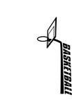 text basketball logo netz stange basketballkorb cool treffer tor im korb werfen spielen verein spaß sport stange club team crew spiel fan trikot clipart design