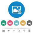 Adjust image contrast flat round icons