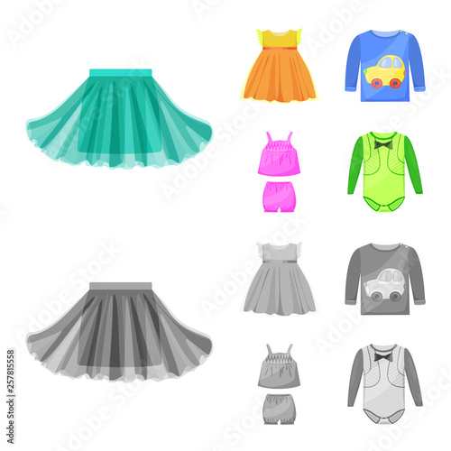 030718c8575cbe Vector illustration of fashion and garment sign. Collection of fashion and  cotton stock vector illustration