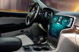 Cockpit of futuristic autonomous car
