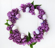Easter holiday wreath - 257841516