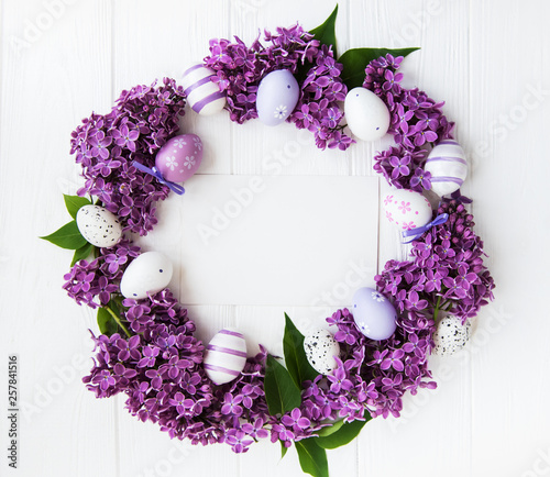 Easter holiday wreath © almaje