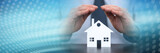 Symbol of home insurance. panoramic banner - 257847739