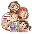 familia padres con hijos