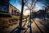 Imágenes a orillas del río, en Castilla España.