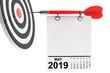 Leinwanddruck Bild - Calendar May 2019 with Target. 3d Rendering