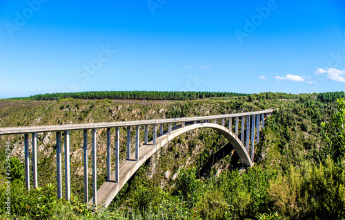 Bloukrans bunjee jumping bridge is an arch bridge located near N