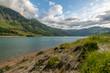 Lake rocky shore