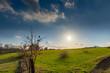 canvas print picture - Blick über die Felder