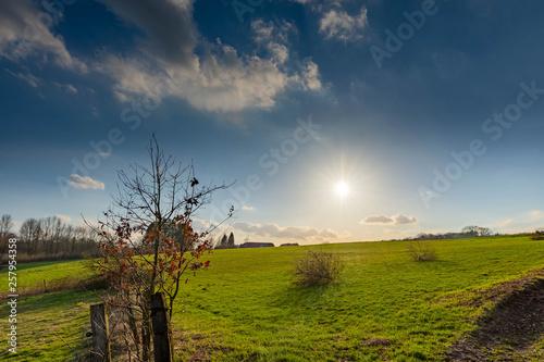 canvas print picture Blick über die Felder