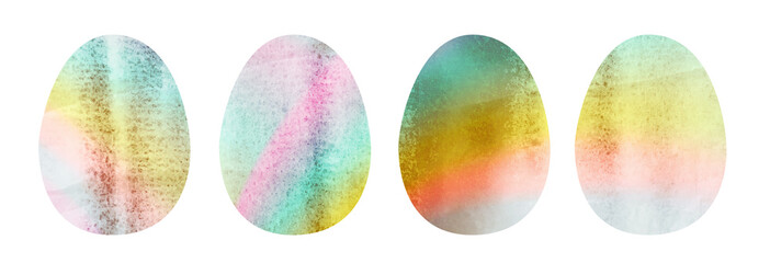 Set of Hand Drawn Watercolor Bird Eggs Isolated © ange1011