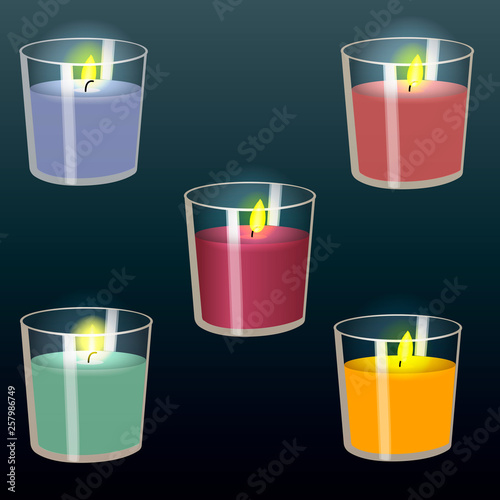 Candles in glasses. © Nataliia