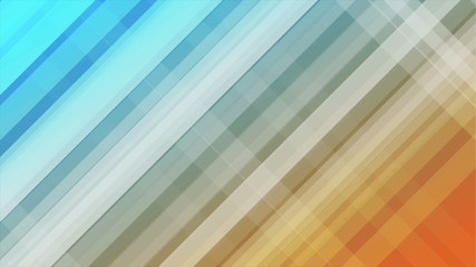 Blue and orange diagonal stripes abstract background