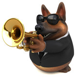 German shepherd dog - 3D Illustration