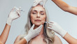 Leinwandbild Motiv Anti wrinkles aesthetic treatment on face