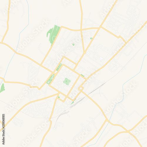 Bjelovar , Croatia printable map © netsign
