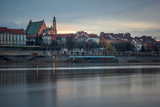 Old town over the Vistula river in Warsaw, Poland