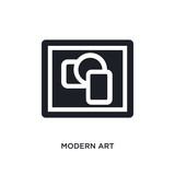 modern art isolated icon. simple element illustration from museum concept icons. modern art editable logo sign symbol design on white background. can be use for web and mobile