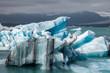 Leinwandbild Motiv Melting icebergs at glacier lake Jokulsarlon Southeastern Iceland Scandinavia