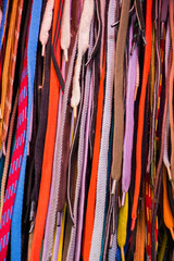 Multicolored shoelaces  as a backround texture