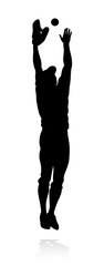 Baseball player in sports pose detailed silhouette © Christos Georghiou