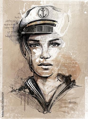 canvas print picture Captains Woman