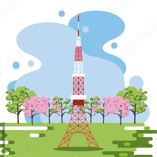 Telecommunication antenna in nature © Jemastock