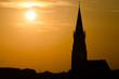 canvas print picture - Sonnenuntergang über St. Martin