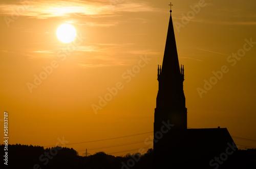 canvas print picture Sonnenuntergang über St. Martin