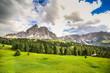 Quadro Alpine landscape in Dolomites, Italy