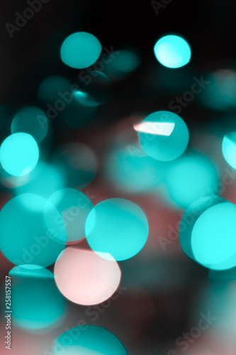 Abstract background of neon lights. The lights are out of focus. - 258157557