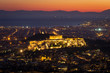 Athens and the Acropolis: night view