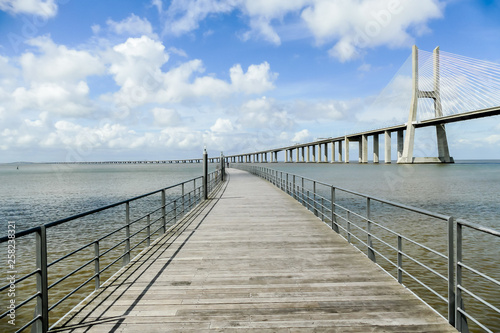 bridge on the sea, in Lisbon Capital City of Portugal © underworld