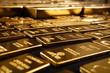 Leinwandbild Motiv Hundreds kilos of gold stolen during war in Europe found on unknown place